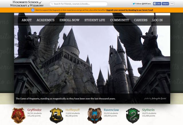 hogwarts is here
